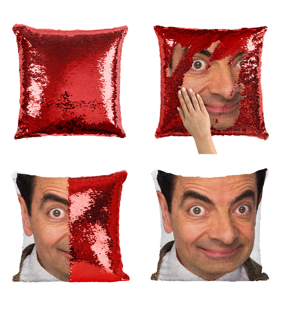 Bean Rowan Atkinson Smile_MA0837 Sequin Pillow