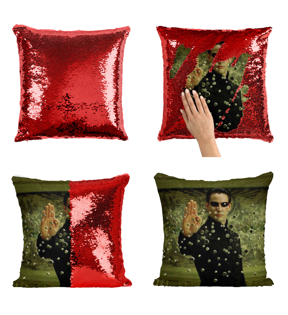 Neo Keanu Reeves The Matrix Movie_MA0838 Sequin Pillow