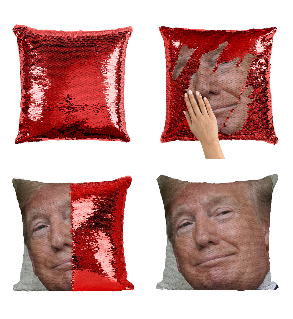 President Donald Trump Look Why Disappointed_MA0851 Sequin Pillow