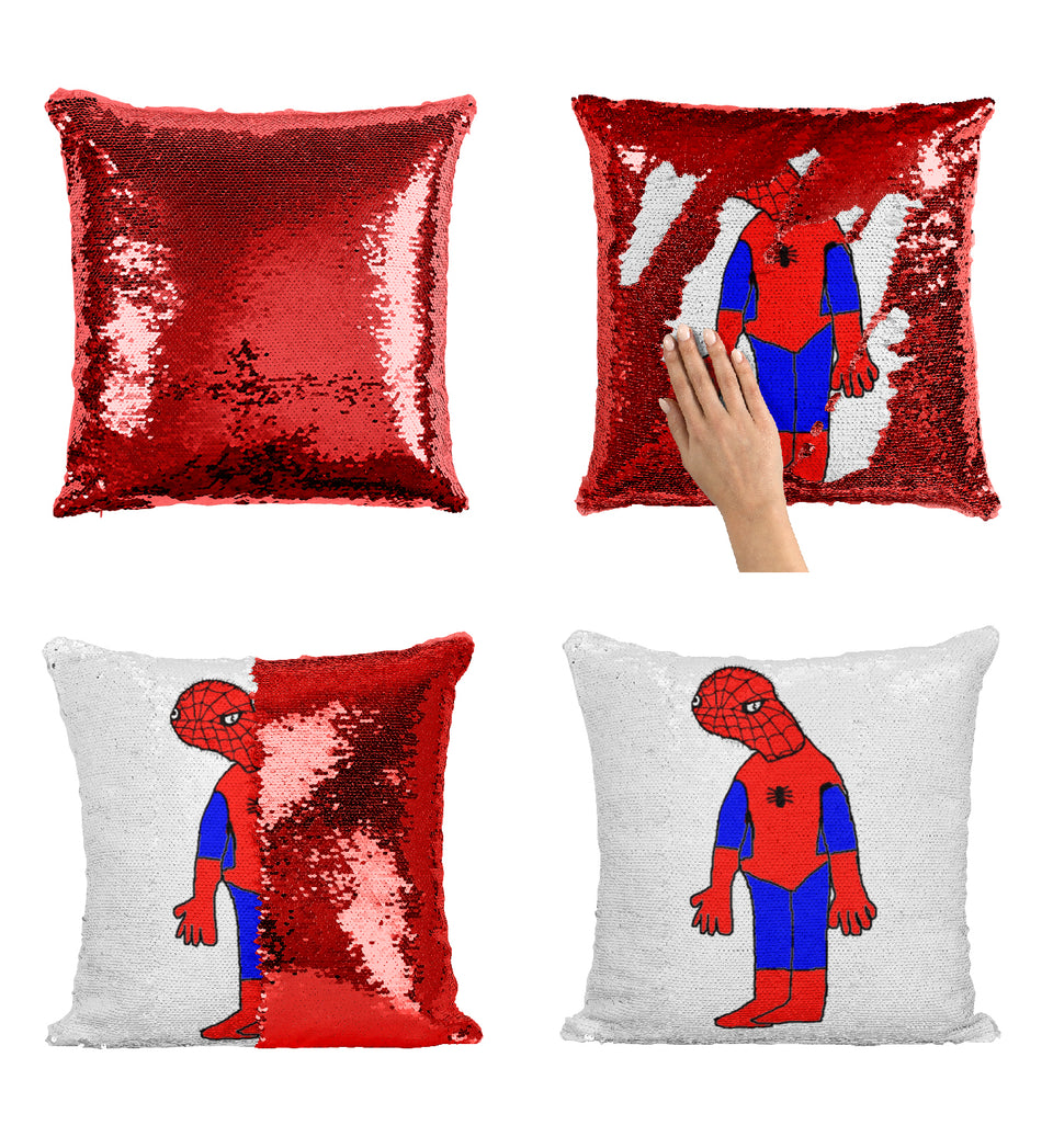Spoderman sequin pillow_MA0864 Sequin Pillow