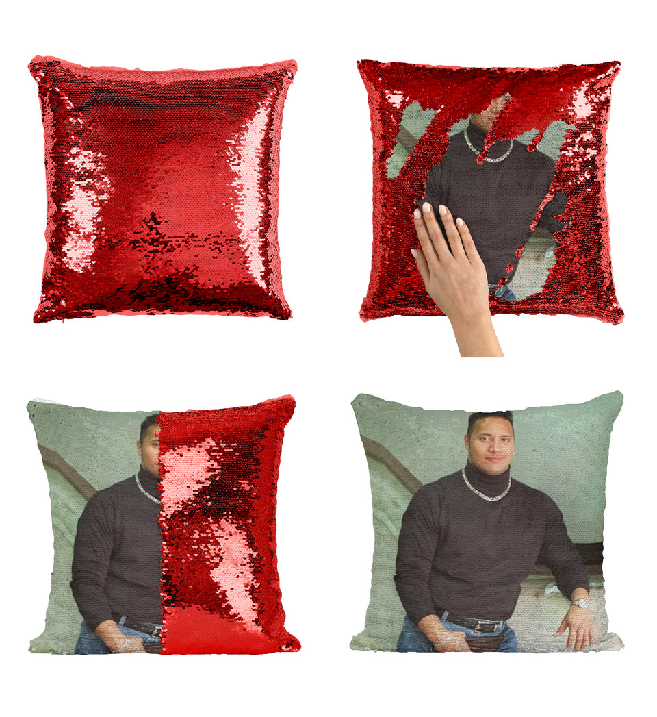 Turtle Neck Young Dwayne Johnson the Rock_MA0875 Sequin Pillow