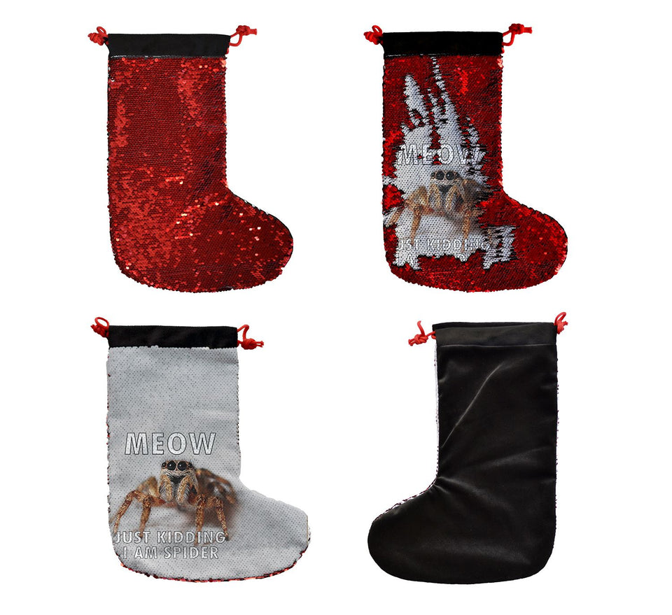 Cute Spider Cat_SS0028 Gift Christmas Stocking