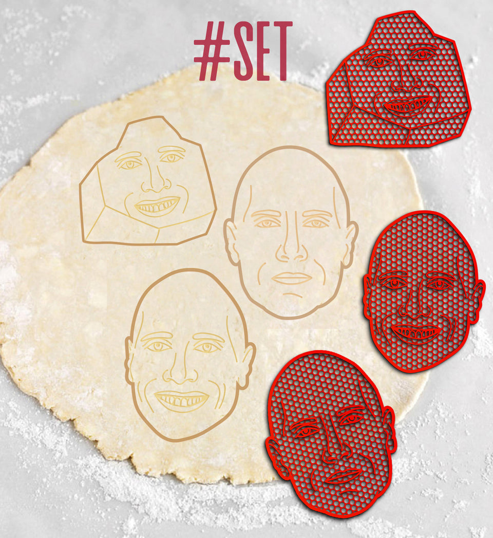 Exclusive Dwayne Johnson Cookie Cutters