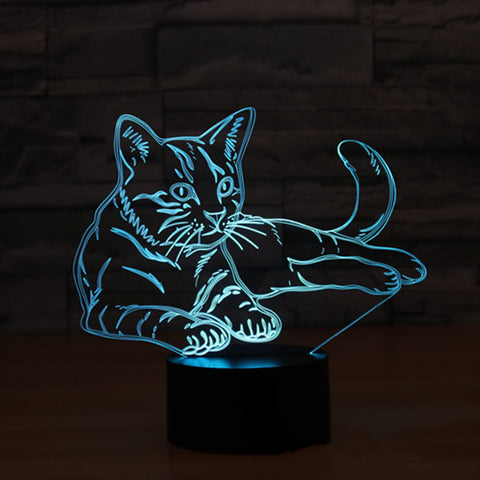 *NIEUW* 3D Cat Lover LED Lamp