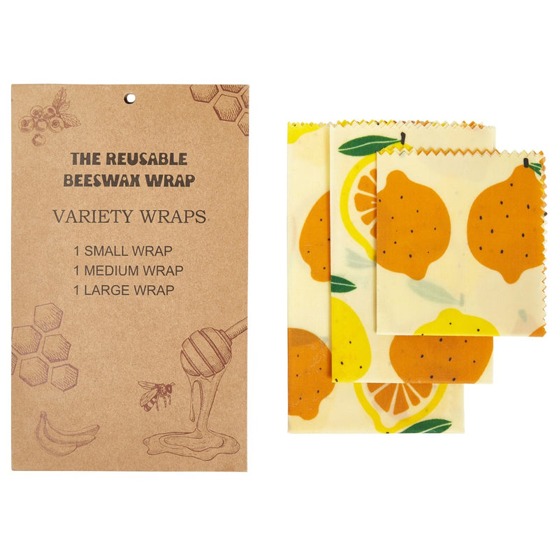 Beeswax Wrap Variety Pack - 1 Small, 1 Medium, 1 Large