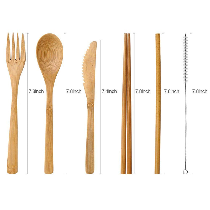 Bamboo Cutlery Set 6 Pieces