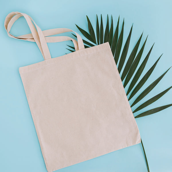 10 x Organic Cotton Shopping Bags. Natural Colour