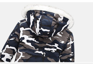 Camouflage parka with fur hood - Fresh Set