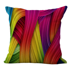 Decorative Rainbow throw pillow