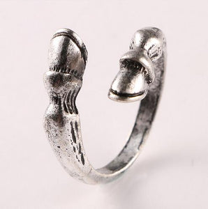 Vintage Resizable Horse Hoof Animal Ring