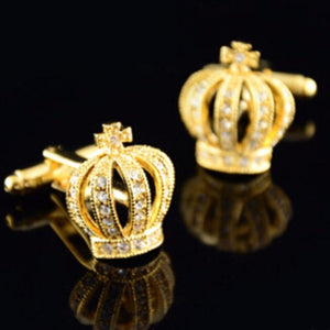 1 Pair  Stainless Steel Imperial French crown Cuff-links