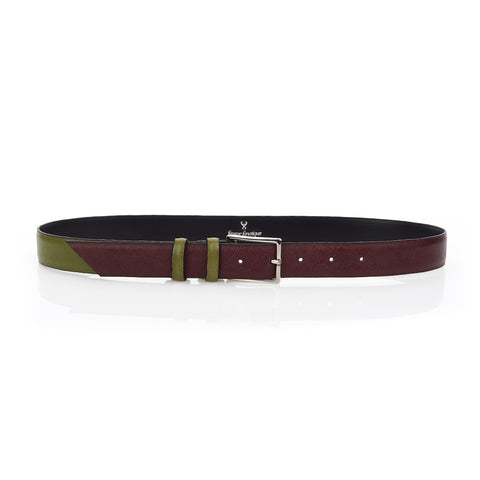 Signature Belt - Mulberry & Olive