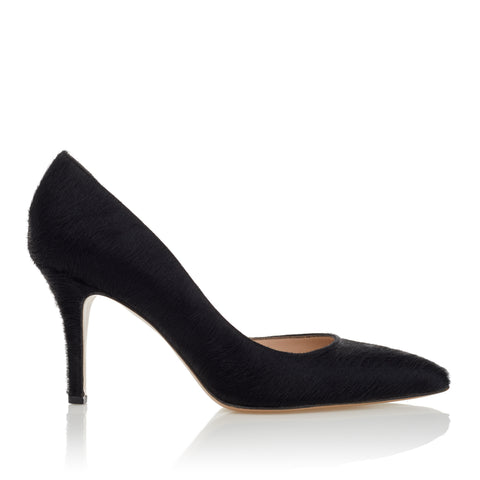 Half d'Orsay Pump - Black Pony