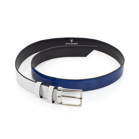 Signature Belt - Royal & White