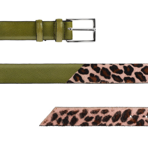 Signature Belt - Pink Leopard