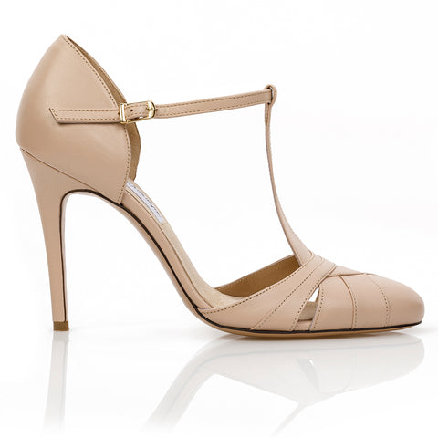 Cabaret Pump Beige Leather