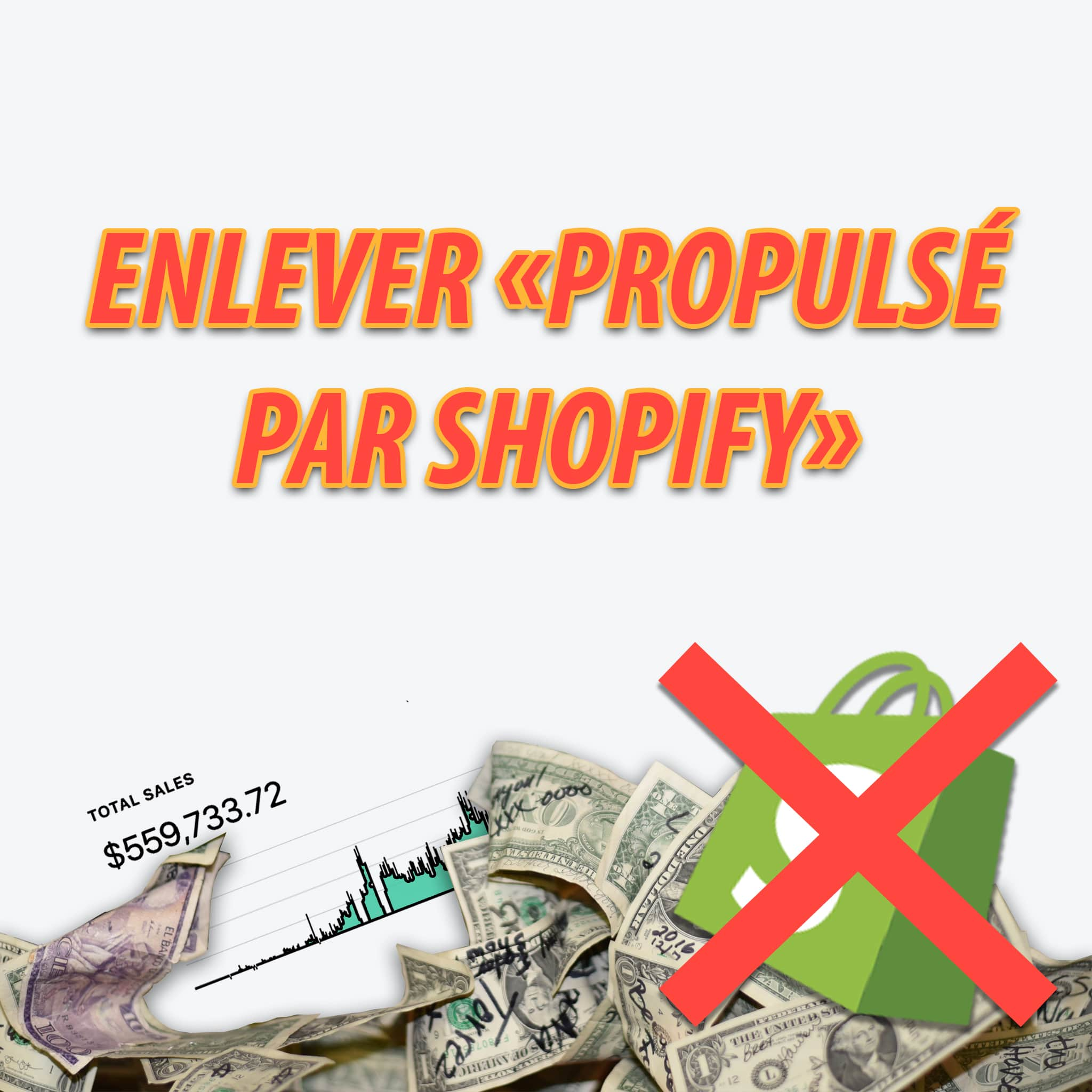 "Comment Enlever le ""Commerce électronique propulsé par Shopify"" ou ""Powered by Shopify"" ?"