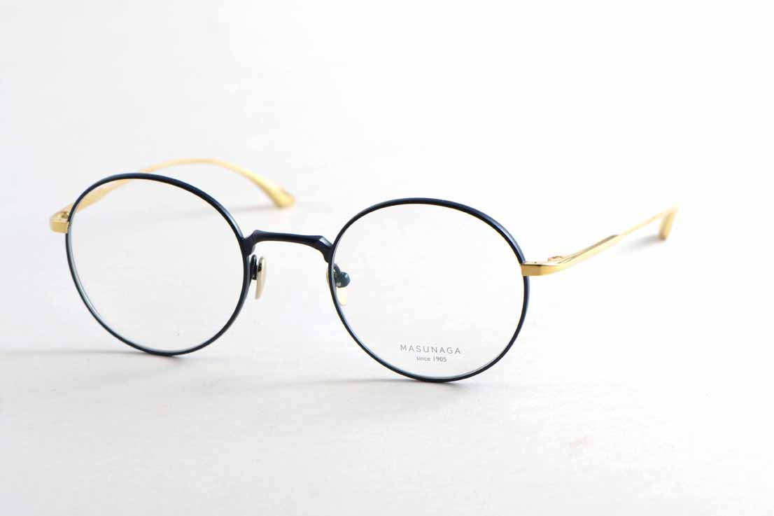 Masunaga WRIGHT 55 49-22 TITAN Dark Blue Gold