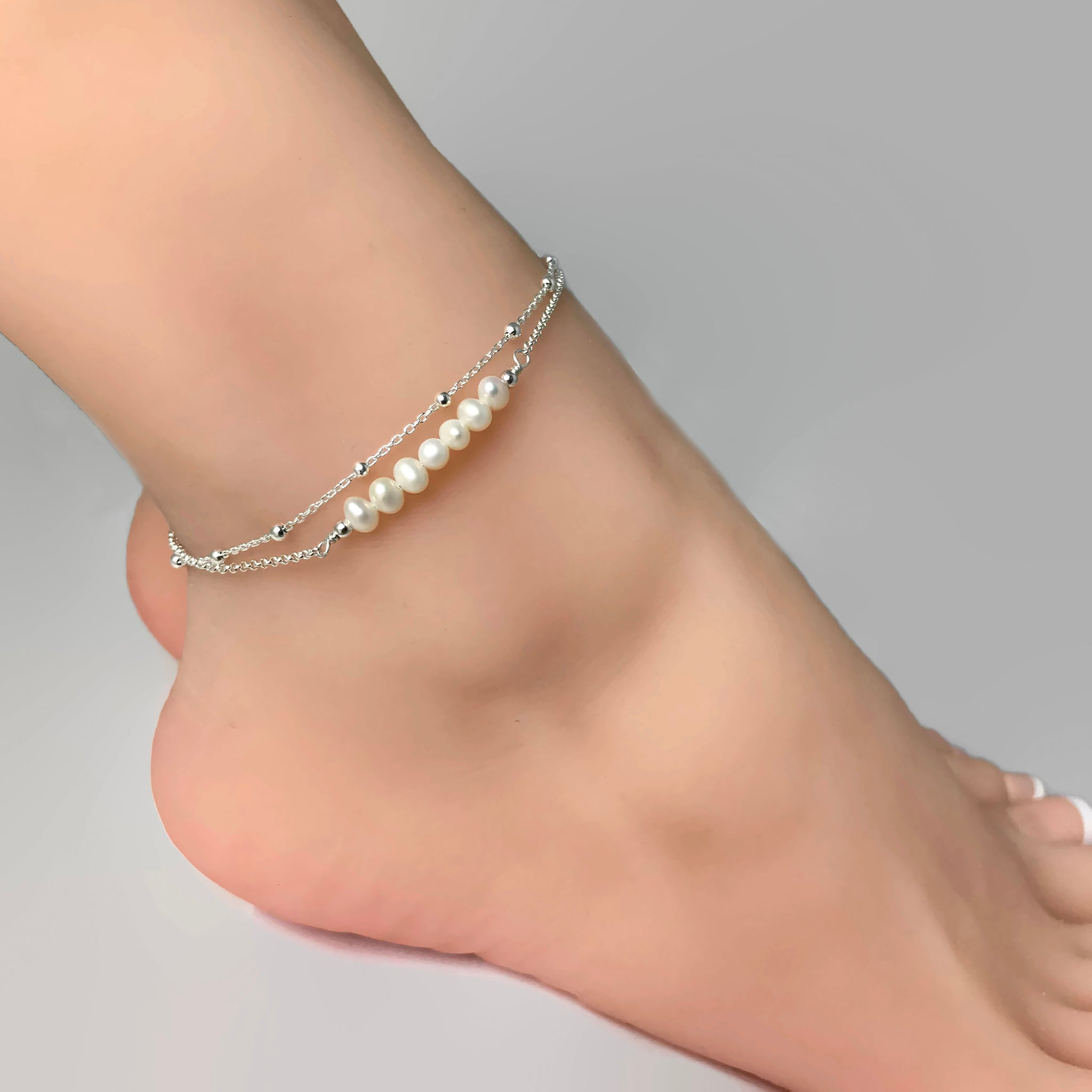 for anklet online women studded rhinestone silver indian elegant ladies black anklets india oblacoder