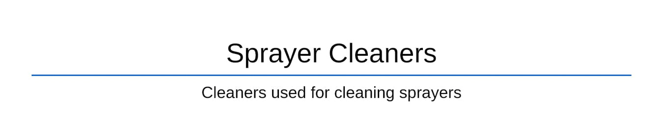 Sprayer Cleaners