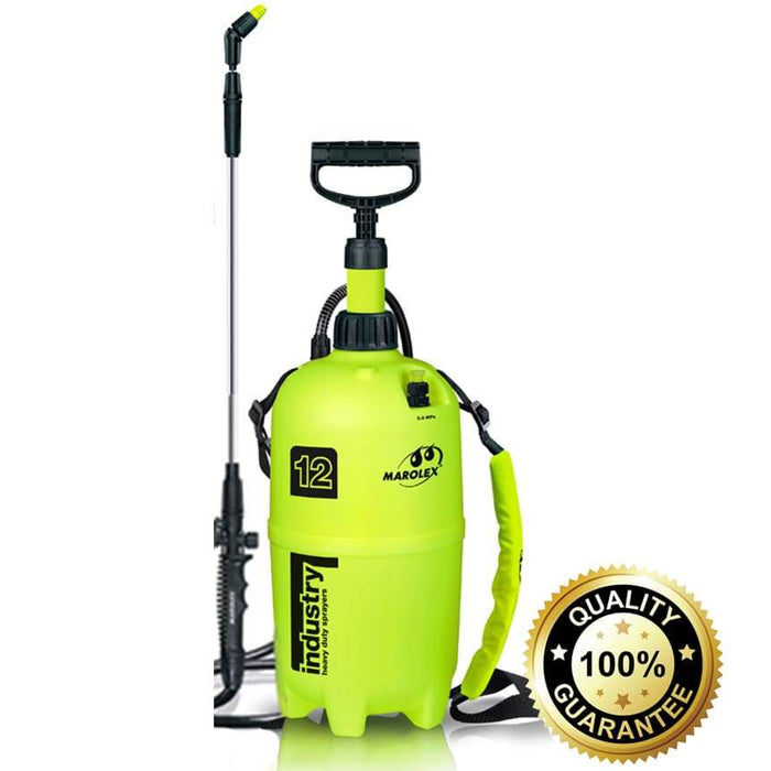 12 Litre Professional Sprayer - With Chemical Resistant Viton Seals for Solvents - PremiumPaints