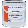 Paintmaster - Acrylic Satinwood Paint - White and Magnolia - Multiple Sizes - PremiumPaints