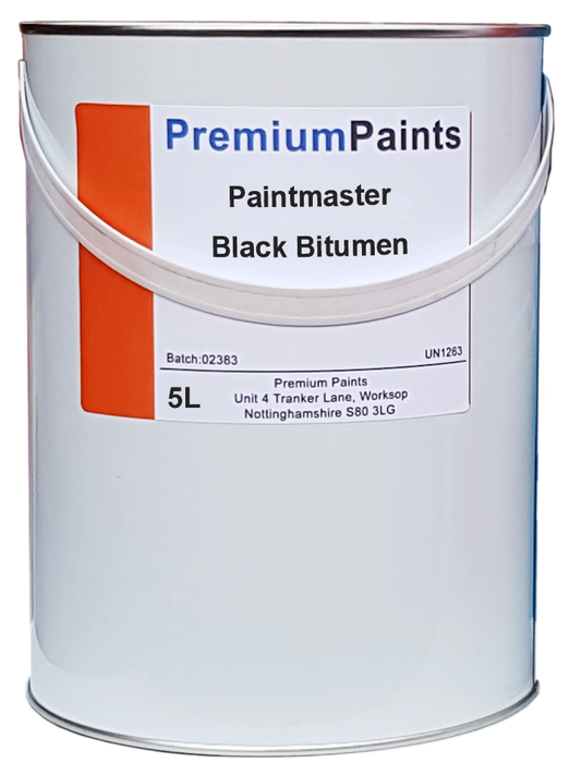 Paintmaster - Heavy Duty Black Bitumen Paint - 20 or 5 Litre - Waterproofer - PremiumPaints