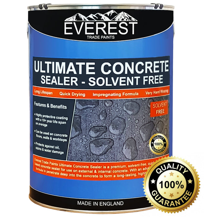 Everest Trade - Ultimate Concrete Sealer - Solvent Free - Impregnating Formula - Internal & External - PremiumPaints