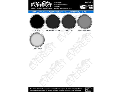 Everest Trade - PremFlex Ultimate Asbestos Roof Paint - High Performance - Multiple Sizes - PremiumPaints