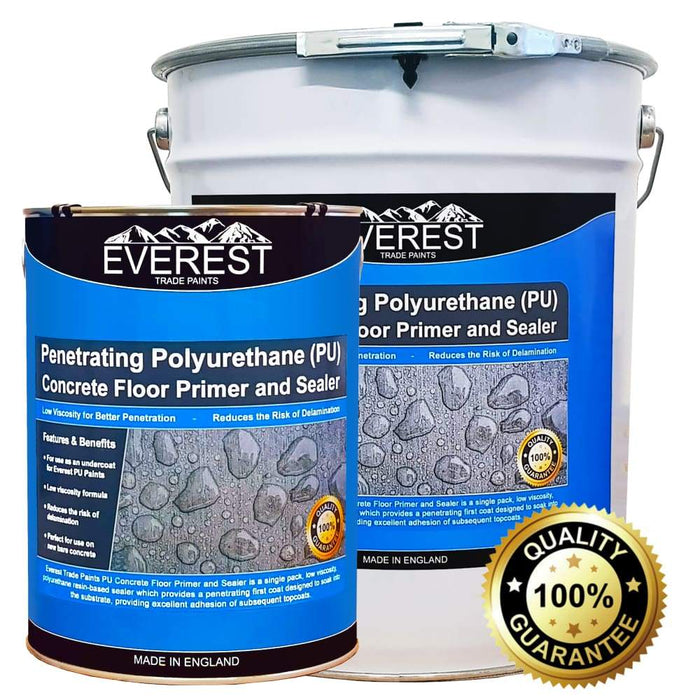 Everest Trade - Penetrating Polyurethane (PU) Concrete Floor Primer & Sealer - 20 or 5 Litre - PremiumPaints