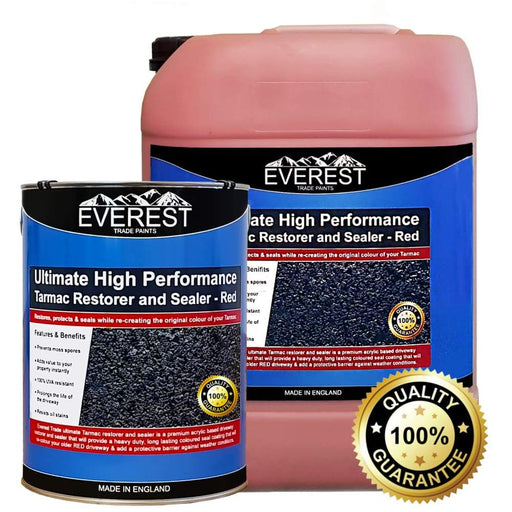 Everest Trade - Ultimate Tarmac Restorer and Sealer - High Performance - Red - PremiumPaints