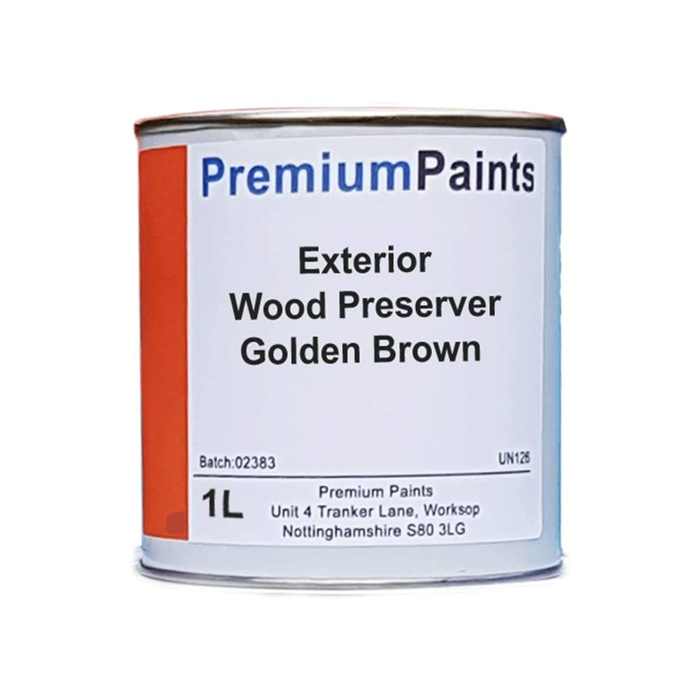 Paintmaster Golden Brown Exterior Wood Preserver - 1 Litre - PremiumPaints