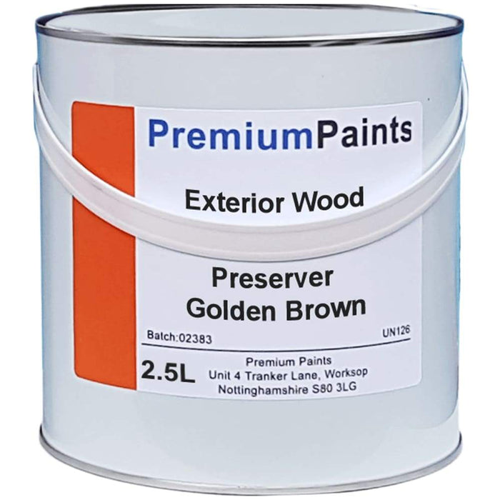 Paintmaster Golden Brown Exterior Wood Preserver - 2.5 Litre - PremiumPaints