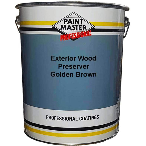 Paintmaster Golden Brown Exterior Wood Preserver - 20 Litre - PremiumPaints