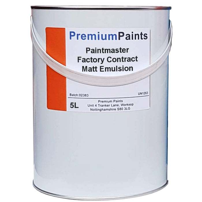 Paintmaster - Interior Contract Factory Emulsion - Matt Finish - Multiple Sizes - PremiumPaints