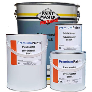 Paintmaster Tarmac Paint & Sealer Acrylic - Heavy Duty - Black and Red - Multiple Sizes