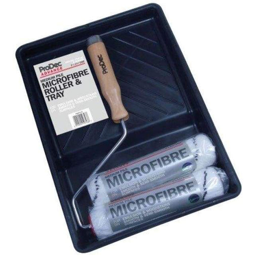 "ProDec Advance - 9"" Twin Head Microfibre Roller & Tray Set - Medium Pile - PremiumPaints"