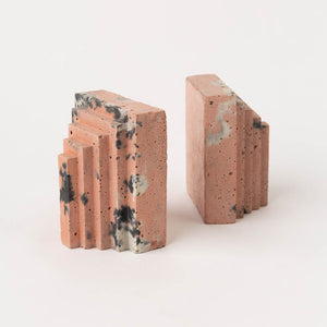 Concrete Bookends - Pair