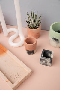Concrete Cube Pot - Small