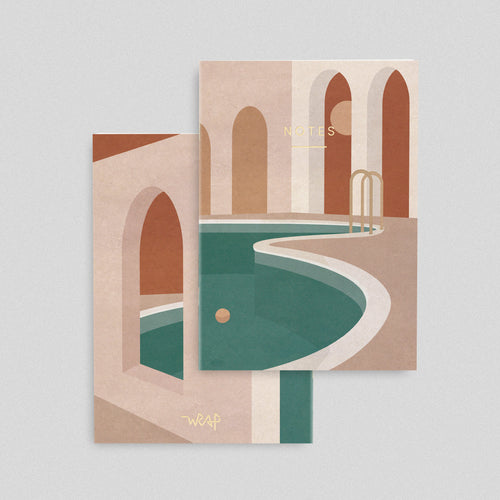 Wrap Notebook - Pool With Arches