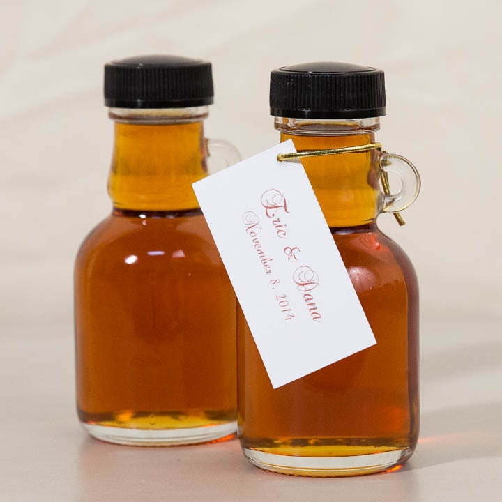 100ml Gallone Wedding Favor Bottle of Pure Vermont Maple Syrup