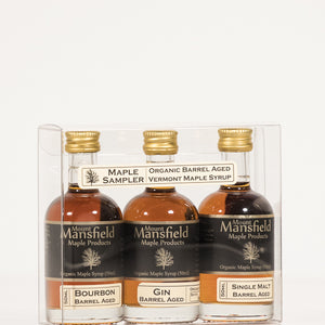 Organic 3-Pack Barrel Aged Vermont Maple Syrup Sampler Set