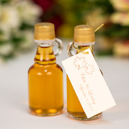 40ml Gallone Wedding Favor Bottle of Pure Vermont Maple Syrup