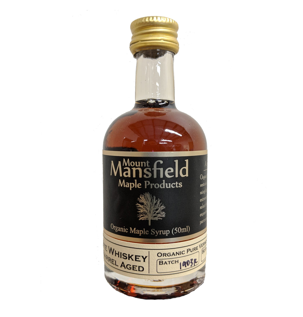 Organic Rye Barrel Aged Vermont Maple Syrup 50ml