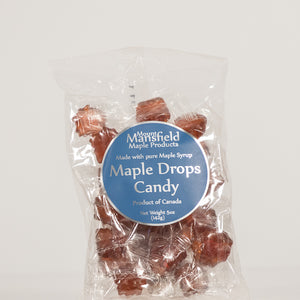 Maple Drops Candy 5oz Clear Bag