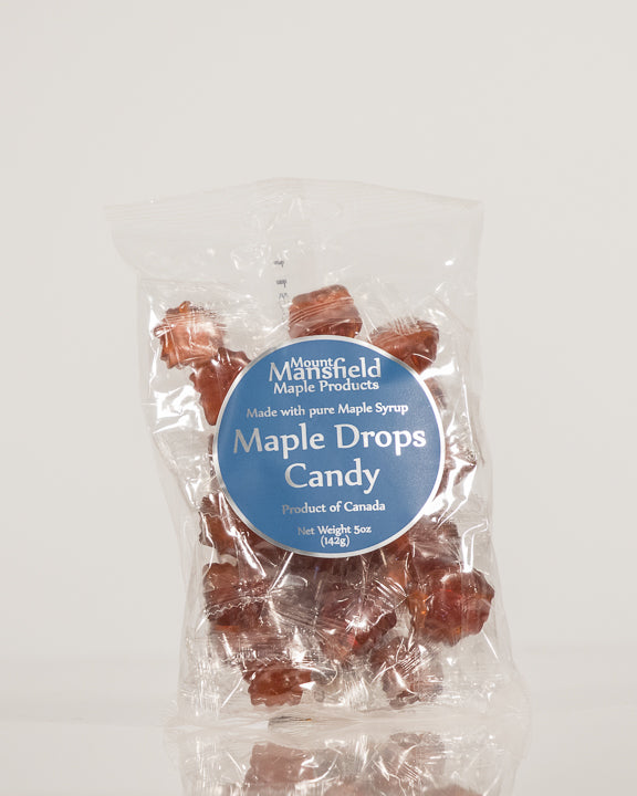 Maple Drops Candy 5oz Clear Bag 1