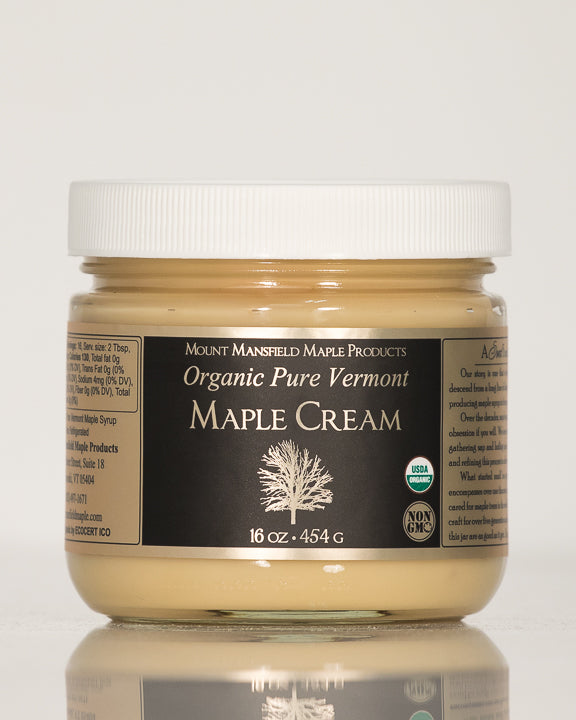 Organic Pure Vermont Maple Cream