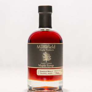 Organic Single Malt Barrel Aged Vermont Maple Syrup 375ml