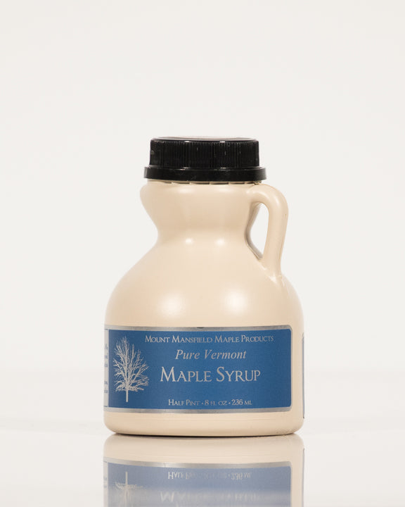 Conventional Half Pint Plastic Jug Pure Vermont Maple Syrup