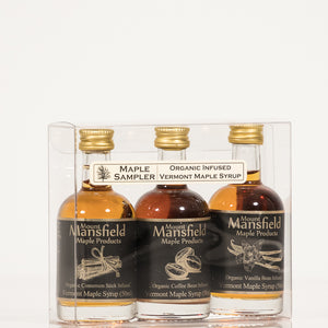 Organic 3 pack Infused Vermont Maple Syrup Sampler Set